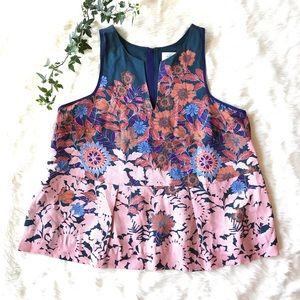 HD in Paris Elsie Floral Peplum Tank Top Shirt 12